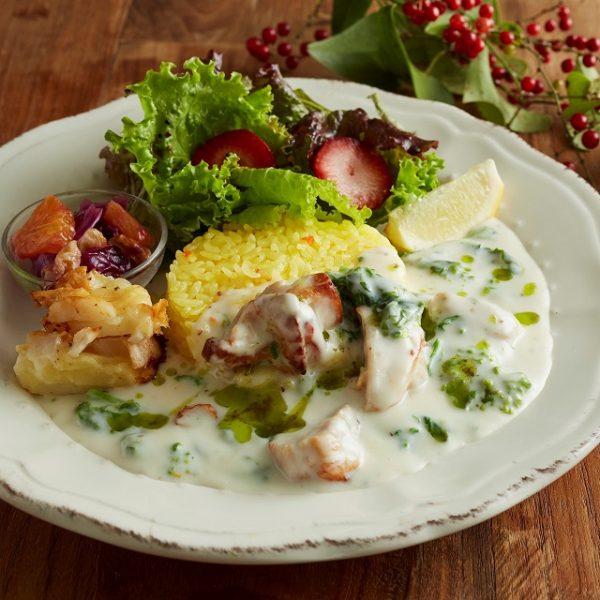 Deli plate of Afternoon Tea - Tea Room grilled chicken and cream fricassee