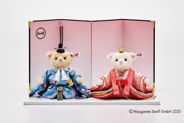 〈シュタイフ〉テディベア ひな人形(桜うさぎ)