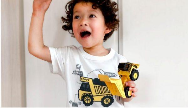 KP Tシャツセット ダンプトラック・パワーショベル・ホイールローダー